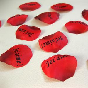 100 rosenbl tter je t aime hochzeit ich liebe dich auf. Black Bedroom Furniture Sets. Home Design Ideas