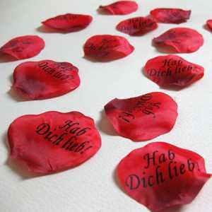 Außergewöhnlich Rosenblätter `Hab Dich Lieb` Valentinstag 100x Danksagung Kleine  Aufmerksamkeit NEU